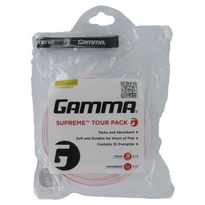 GAMMA SUPREME OVERGRIPS 15/PK PINK
