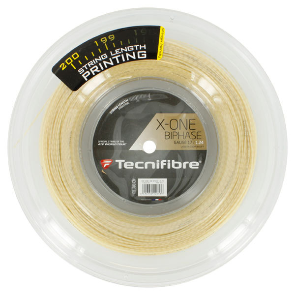 X- One Biphase 17g Natural Tennis String Reel