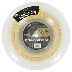 X-One Biphase 17G Natural Tennis String Reel