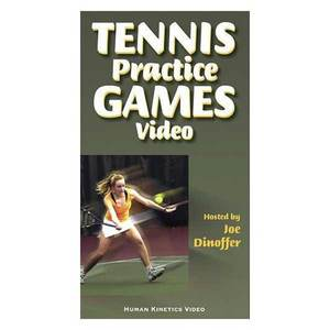 HUMAN KINETICS TENNIS PRACTICE GAMES BOOK