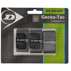 DUNLOP GECKO-TAC 3 PACK BLACK TACKY OVERGRIP