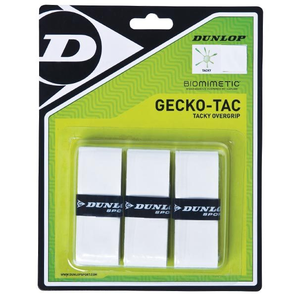 Gecko- Tac 3 Pack White Tacky Tennis Overgrip