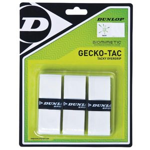 DUNLOP GECKO-TAC 3 PACK WHITE TACKY OVERGRIP