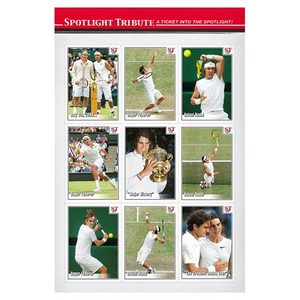SPOTLIGHT TRIBUTE WIMBLEDON 2008 FINAL 9 CARD TRIBUTE