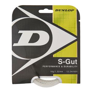 S-Gut 16G White Tennis String