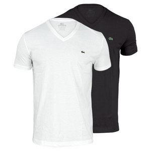 LACOSTE MENS PIMA JERSEY V NECK TENNIS TEE