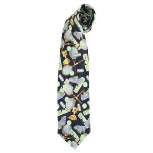 CLARKE MULTI PLAYER-NAVY POLYSILK NECKTIE