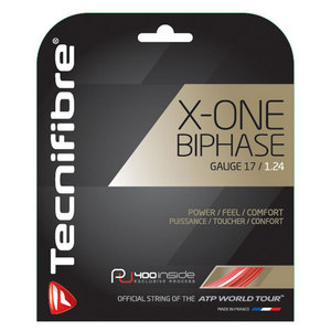 X-One Biphase 17G Tennis String Red