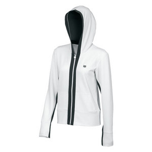 Women`s Stretch Knit Hooded Tennis Jacket