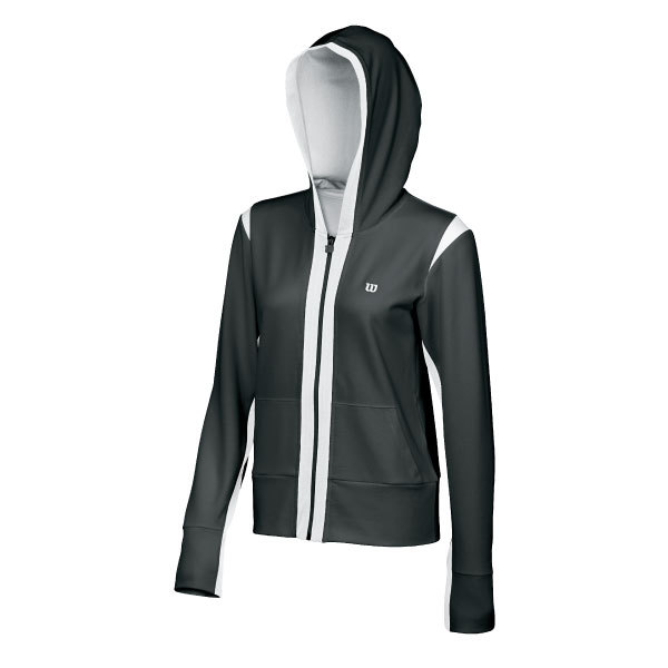 Women's Stretch Knit Hooded Tennis Jacket