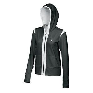 Women`s Stretch Knit Hooded Tennis Jacket