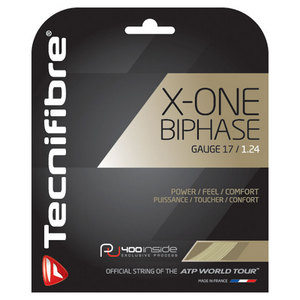 TECNIFIBRE X-ONE BIPHASE 17G TENNIS STRING NATURAL
