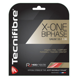X-One Biphase 16G Tennis String Red