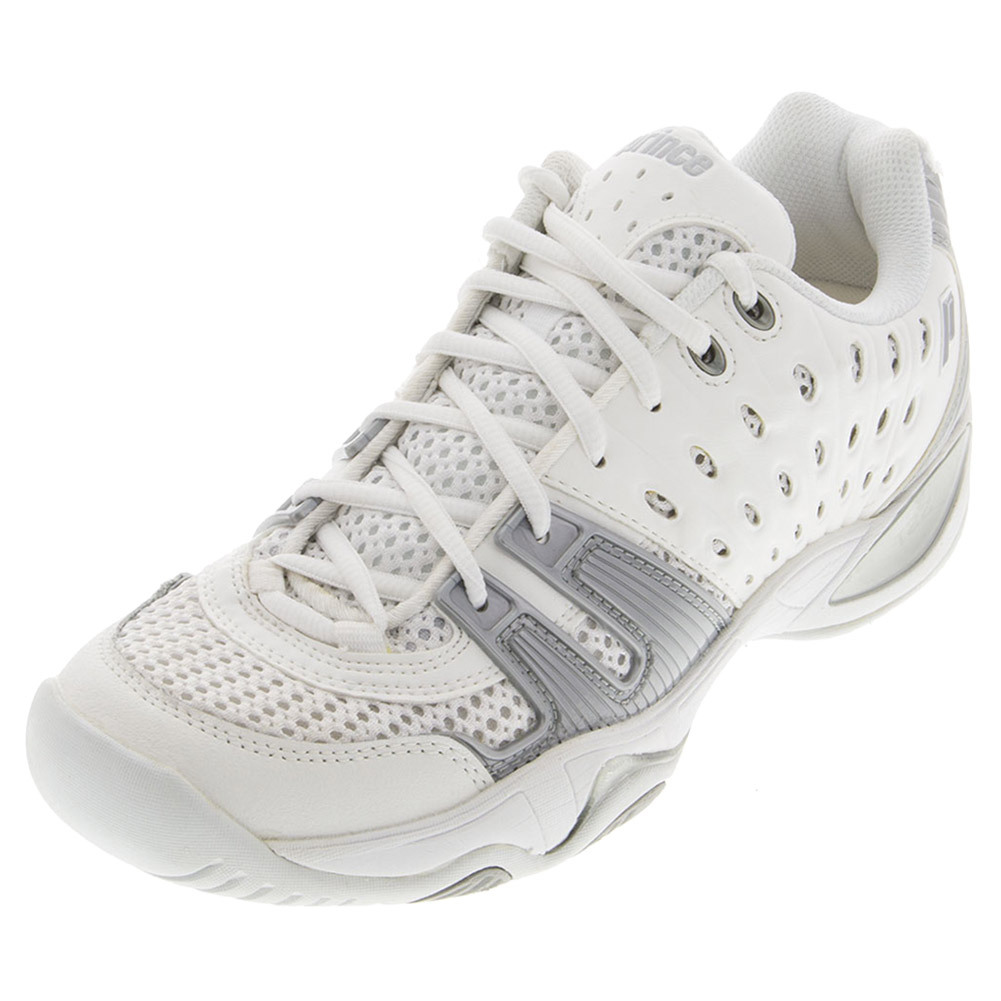 prince t22 s tennis shoes white silver www