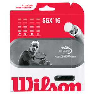 SGX Black 16G Tennis String