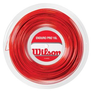 WILSON ENDURO PRO 16L RED TENNIS STRING REEL