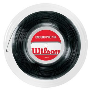 WILSON ENDURO PRO 16L BLACK TENNIS STRING REEL
