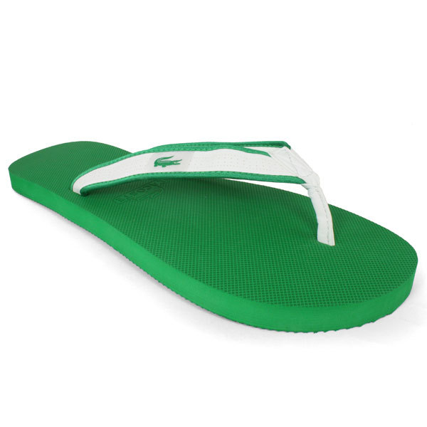 Lacoste Men`s Molietts Flip Flops 9 Green