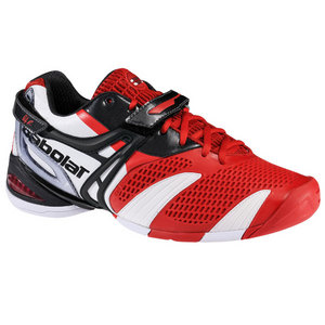 BABOLAT MENS PROPULSE 3 RED TENNIS SHOES
