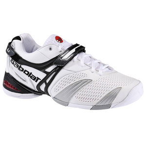 BABOLAT MENS PROPULSE 3 WHITE TENNIS SHOES