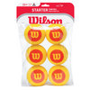 WILSON Starter Easy Foam 6 Pack Stage 3 Training Balls
