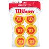 WILSON Starter Easy Foam 6 Pack Stage 3 Training Balls