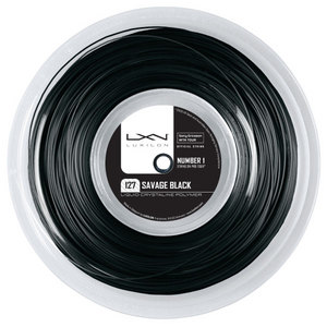 LUXILON SAVAGE BLACK 127 16G TENNIS STRING REEL