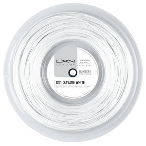 LUXILON SAVAGE WHITE 127 16G TENNIS STRING REEL