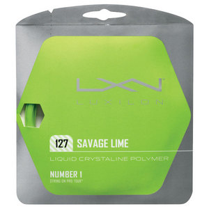 LUXILON SAVAGE LIME 127 16G TENNIS STRING