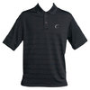 CRUISE CONTROL Men`s Black Striped Tennis Polo