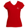 CRUISE CONTROL Women`s Red Cap Sleeve Tennis Tee
