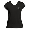 CRUISE CONTROL Women`s Black Cap Sleeve Tennis Tee