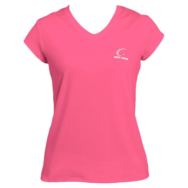 Women's Pink Cap Sleeve Tennis Tee