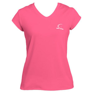 Women`s Pink Cap Sleeve Tennis Tee