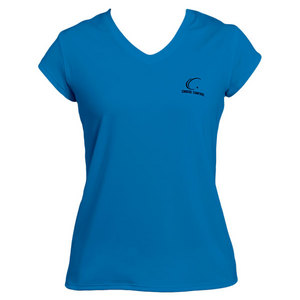 Women`s Pacific Blue Cap Sleeve Tennis Tee