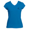 CRUISE CONTROL Women`s Pacific Blue Cap Sleeve Tennis Tee