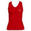 CRUISE CONTROL Women`s Red Sleeveless Tennis Tee