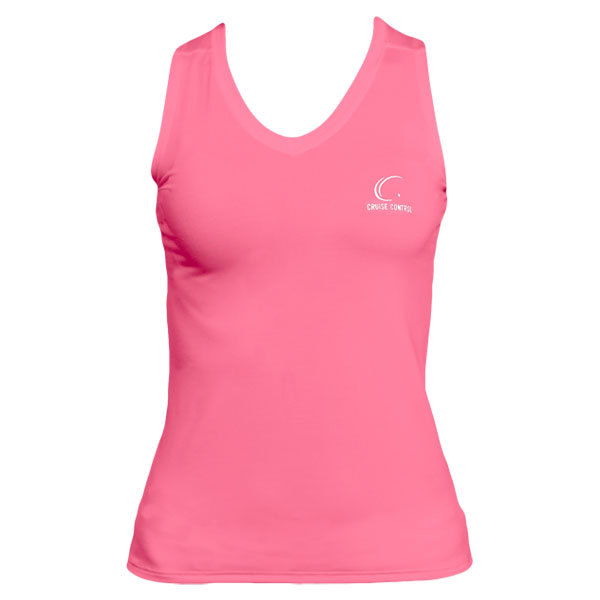 Women's Pink Sleeveless Tennis Tee