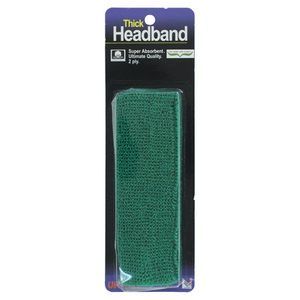 TOURNA THICK HEADBAND GREEN
