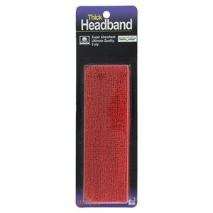 TOURNA THICK HEADBAND RED
