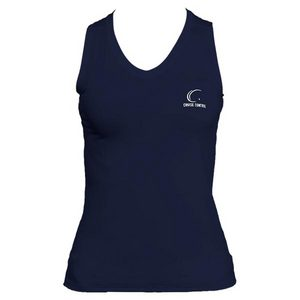 Women`s Navy Sleeveless Tennis Tee