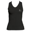 CRUISE CONTROL Women`s Black Sleeveless Tennis Tee