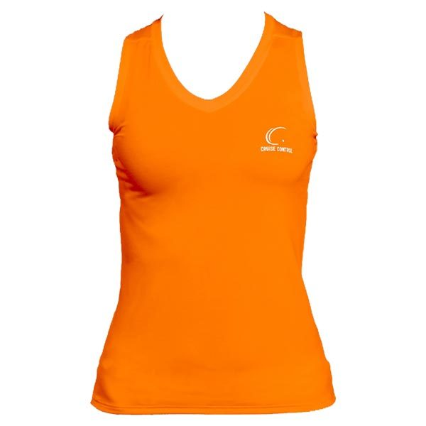 Women's Orange Sleeveless Tennis Tee