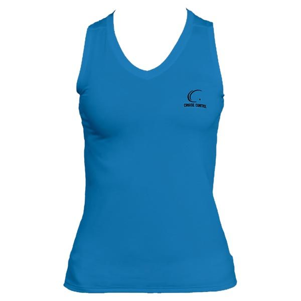 Women's Pacific Blue Sleeveless Tennis Tee