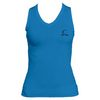CRUISE CONTROL Women`s Pacific Blue Sleeveless Tennis Tee