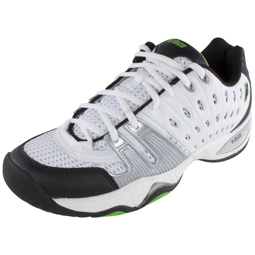 prince t22 mens tennis shoes wh bk