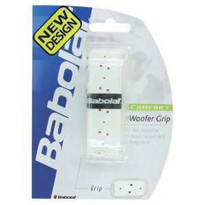 BABOLAT WOOFER REPLACEMENT GRIP WHITE WITH RED