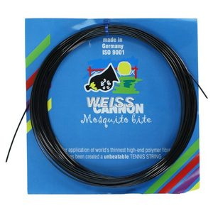 WEISS CANNON MOSQUITO BITE 18G BLACK TENNIS STRING