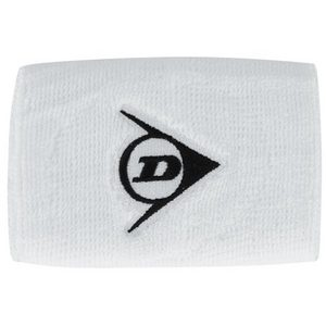 DUNLOP PAIR WHITE 5 INCH TENNIS WRIST BANDS