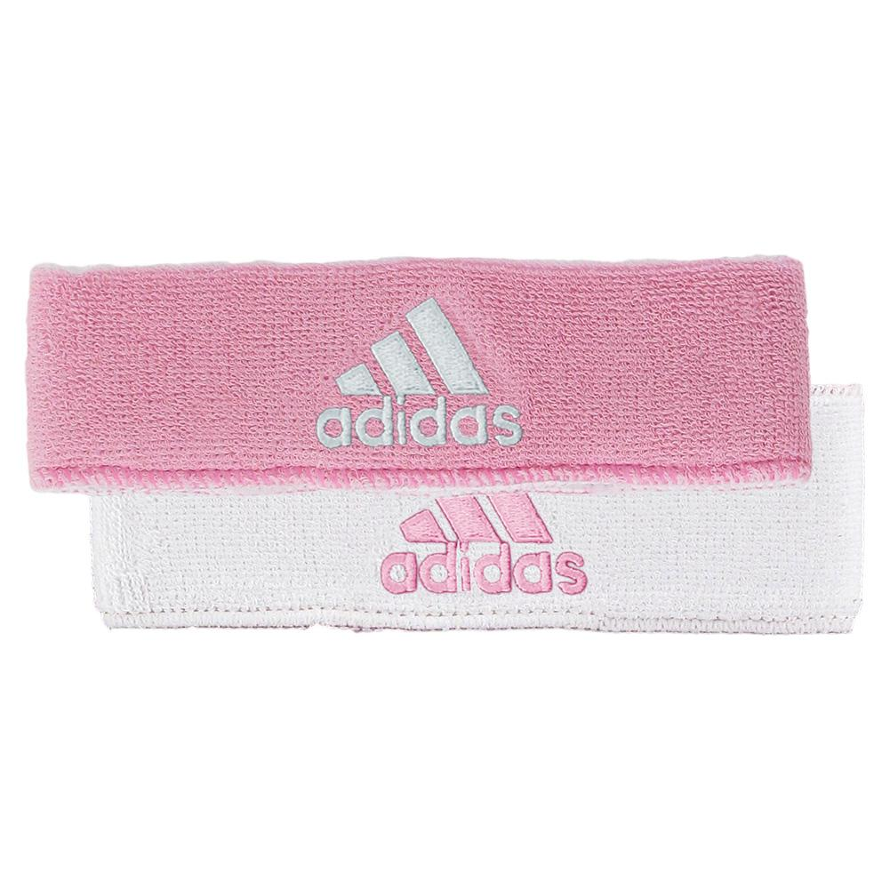 Adidas Interval Reversible Tennis Headband Pink And White